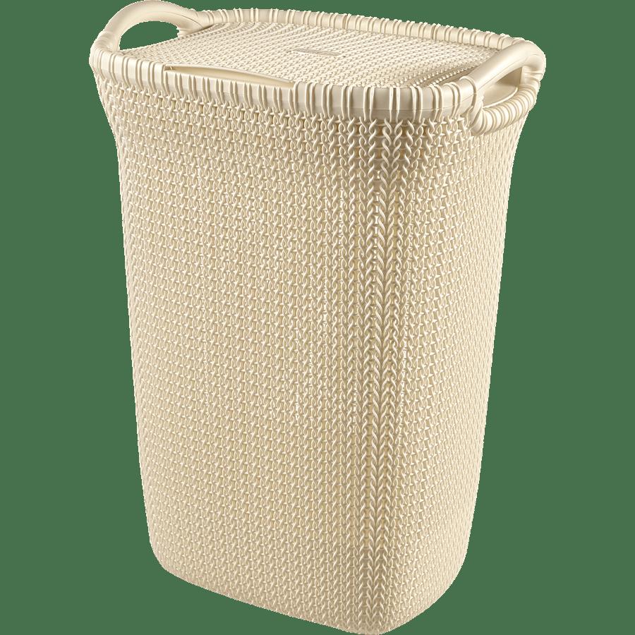 סל כביסה סרוג לבן