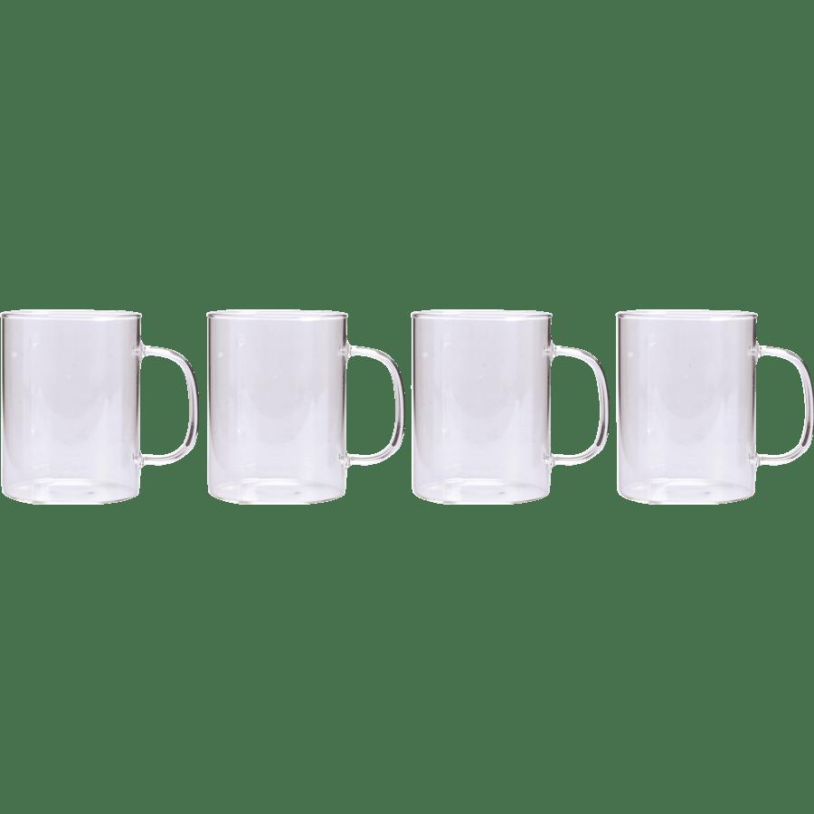 מארז 4 כוסות זכוכית