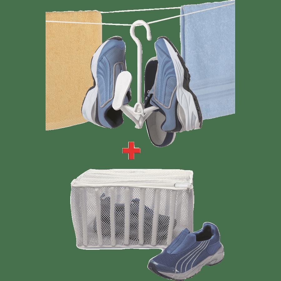 מתקן כביסה נעלים+מתלה