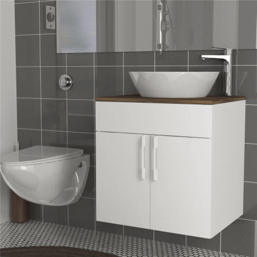 ארון אמבטיה צף דגם ענבר