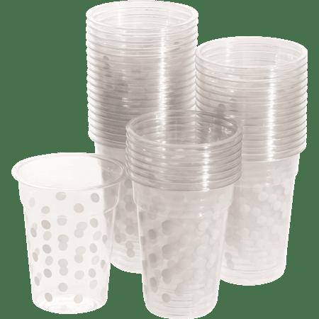 כוסות פלסטיק מנוקדות