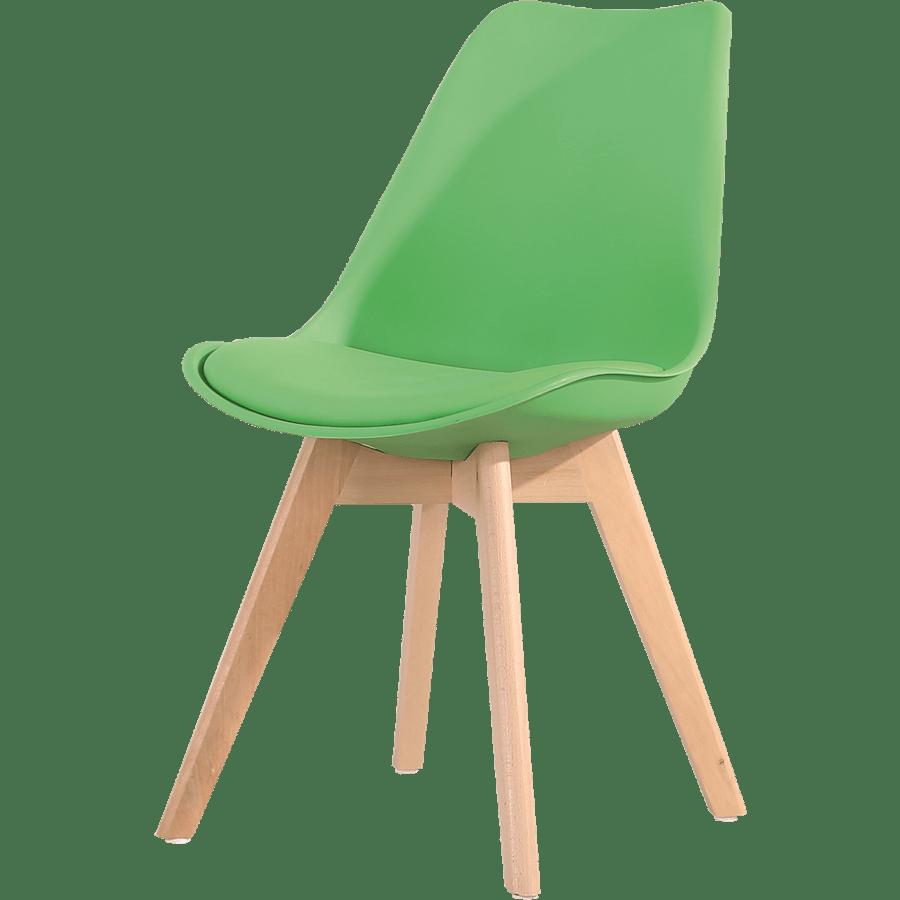 כסא מעוצב לבן/שחור/ירוק/