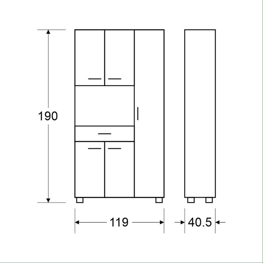 ארון מיקרוגל 5 דלתות