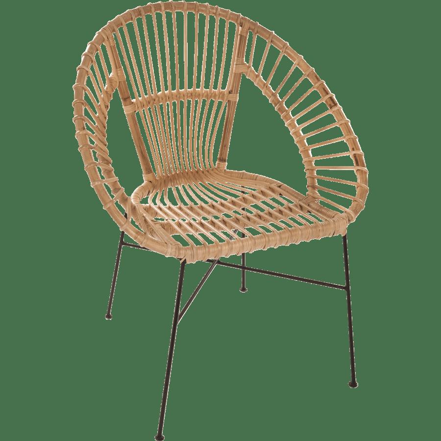 כסא מעוצב קש