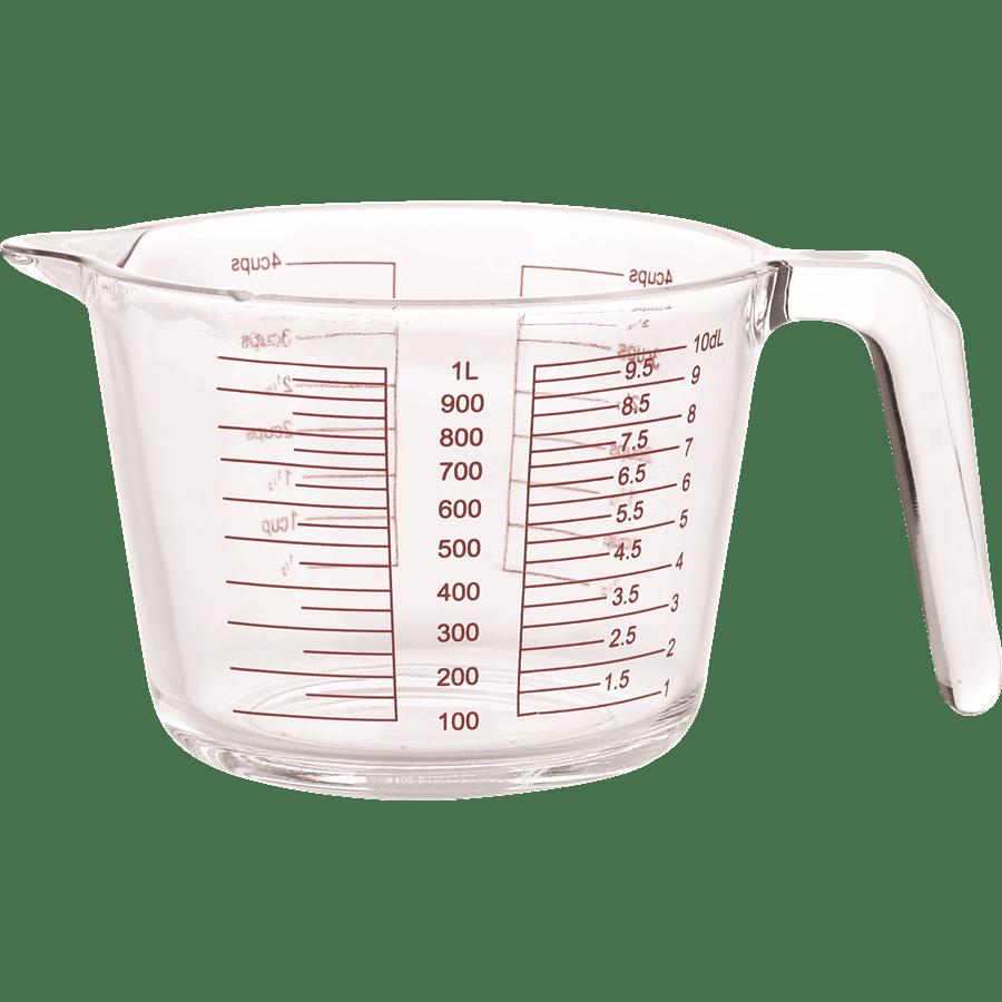 זוג כוסות מידה זכוכית