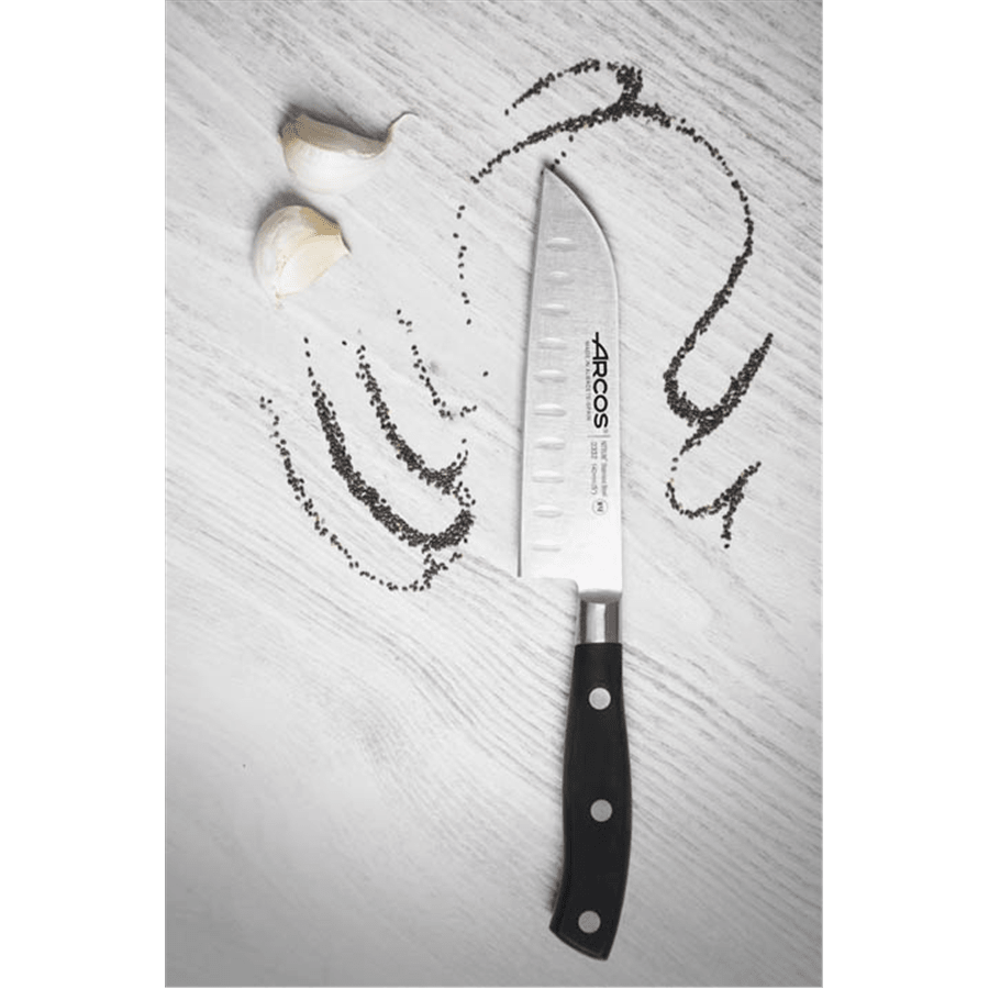 סכין שף מקצועית חריצים