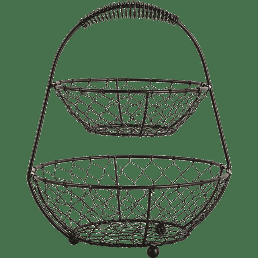 סל רשת מתכת כפול
