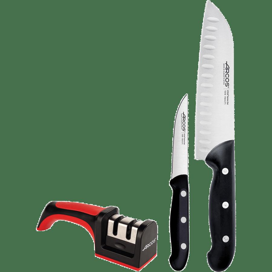 מארז 2 סכינים + משחיז