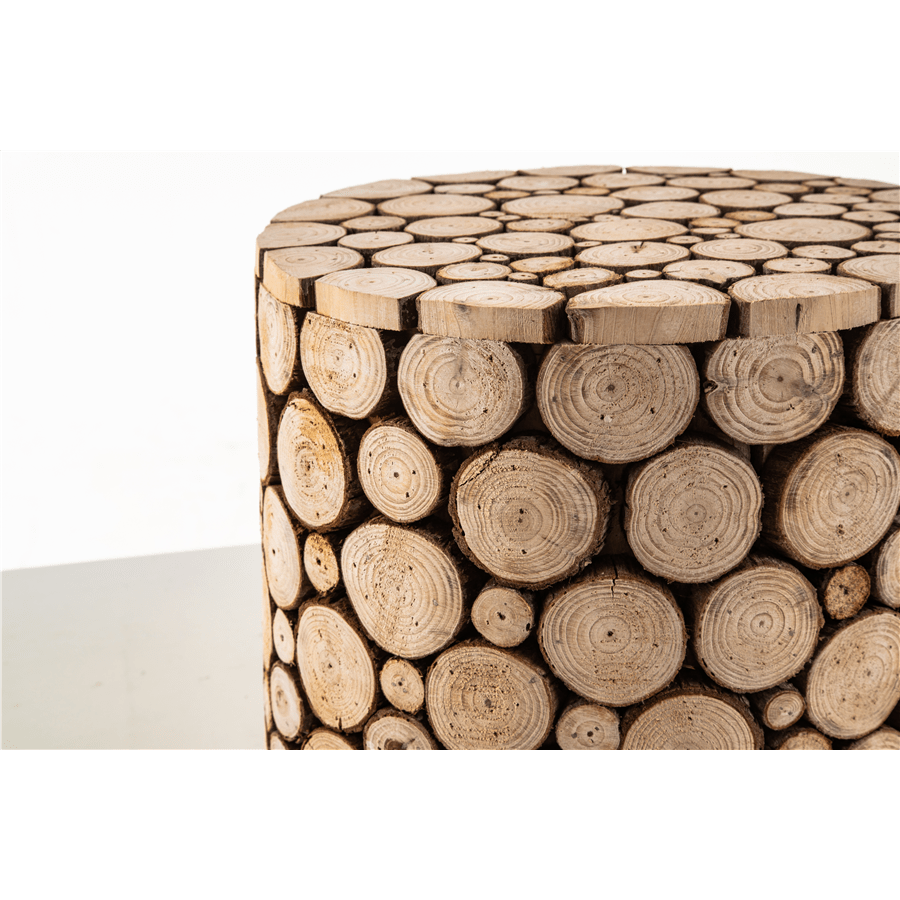 שולחן קפה בולי עץ
