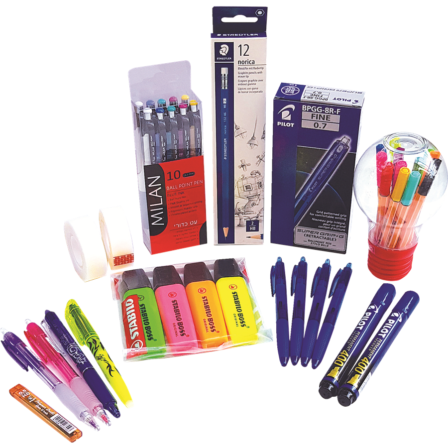 חבילת כלי כתיבה משפחתית