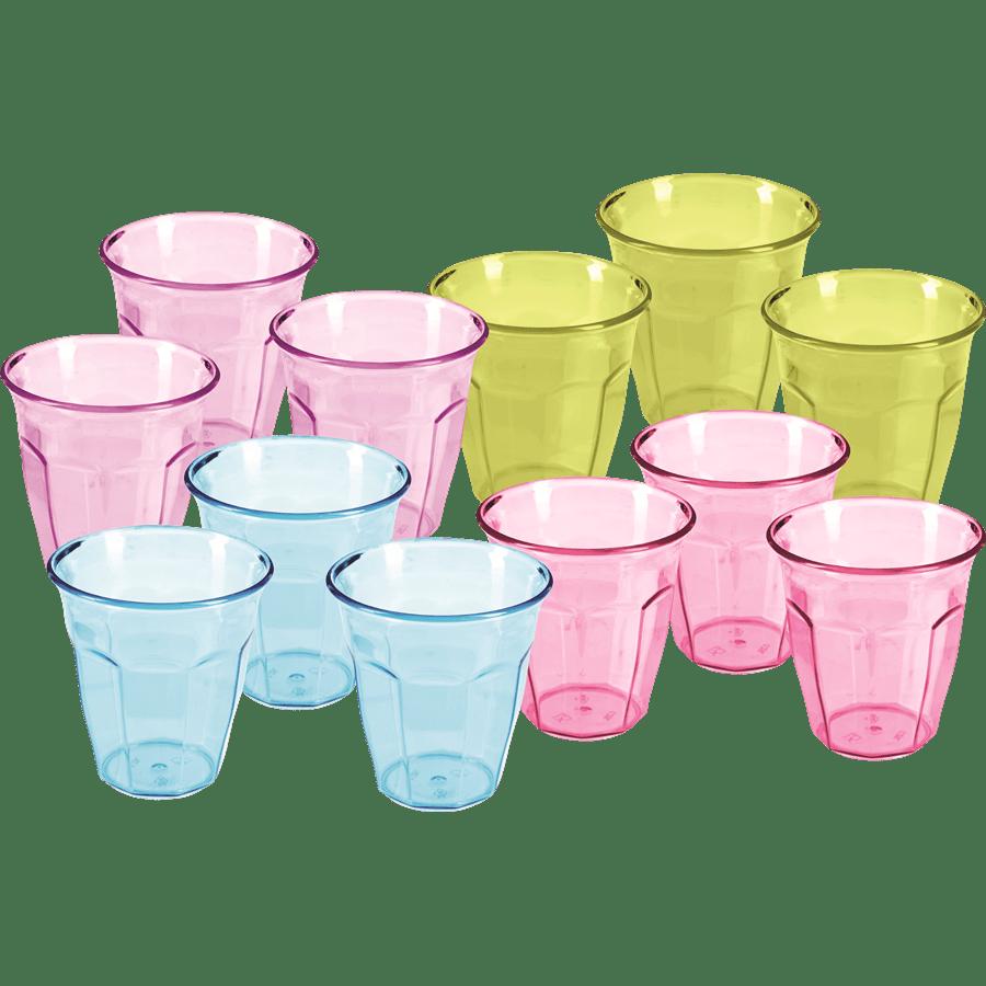 סט כוסות פלסטיק
