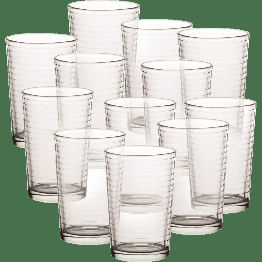 כוסות זכוכית פסים