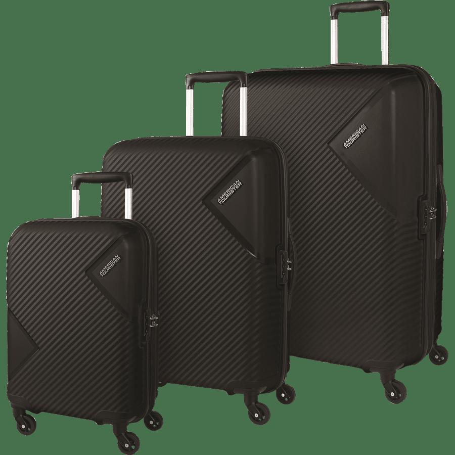 סט 3 מזוודות שחור