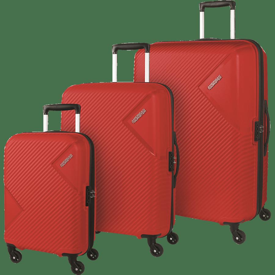 סט 3 מזוודות אדום
