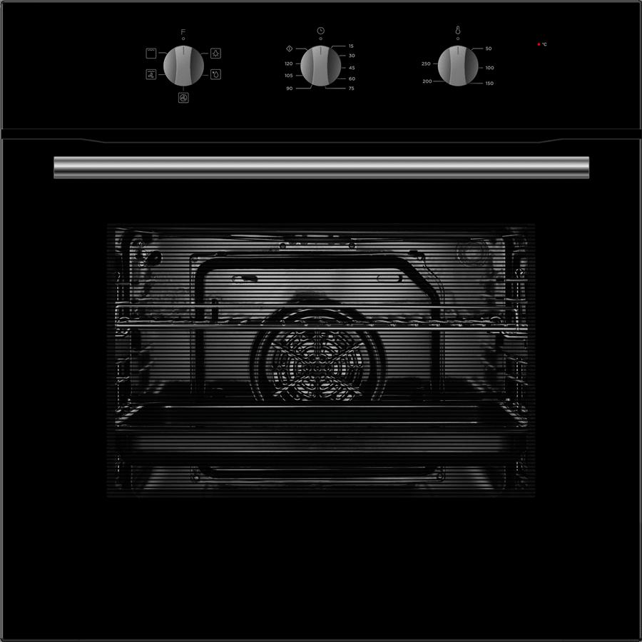 תנור בנוי מכני 70ל' שחור