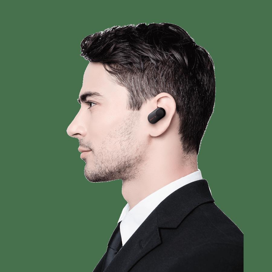 אוזניות סוני שחור
