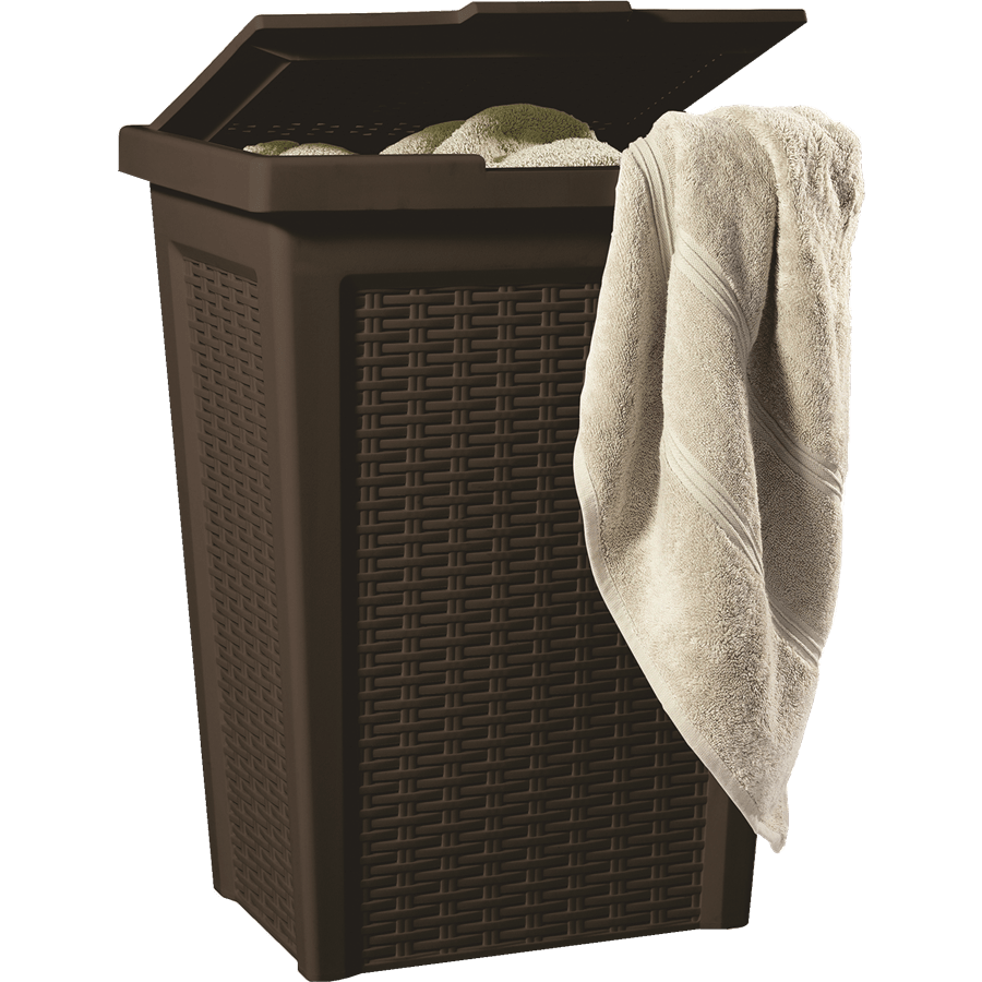 סל כביסה 50 ליטר חום