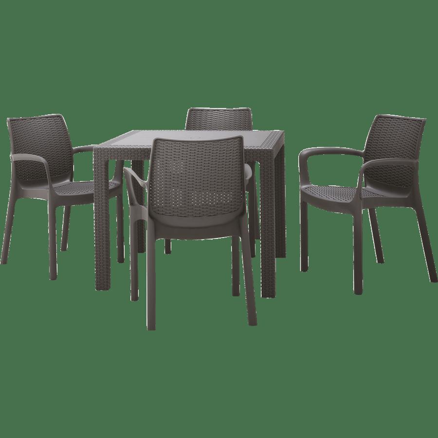 סט שולחן קוורטט+4 כסאות