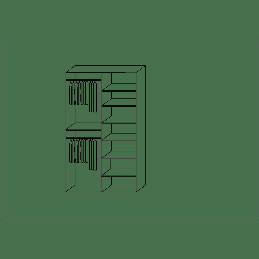 ארון אדרת  2 דלתות +מראה