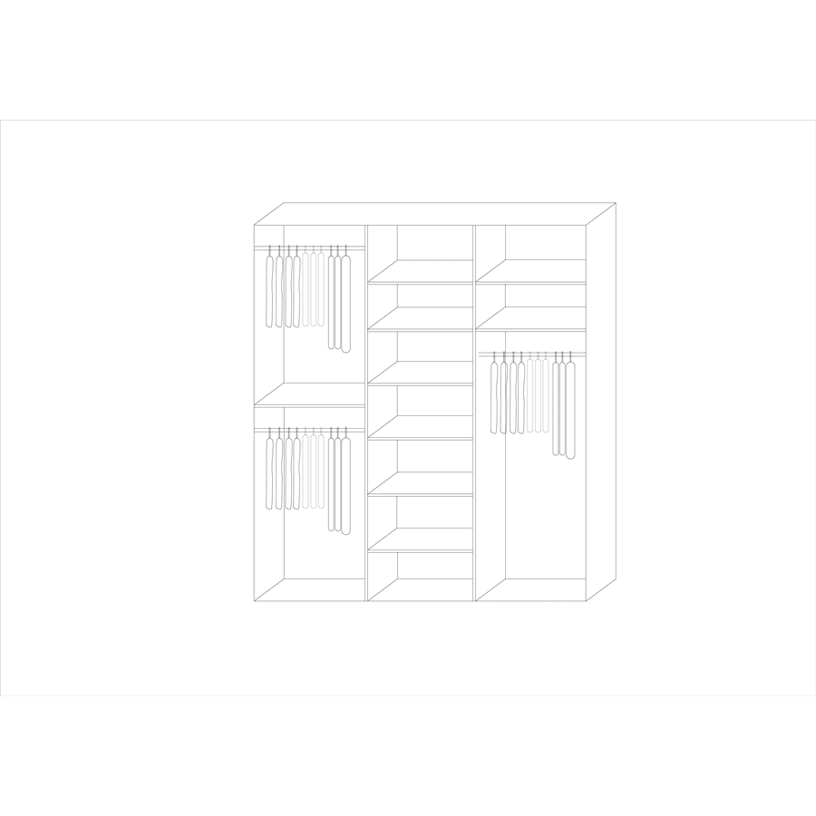 ארון נחושה 3 דלתות