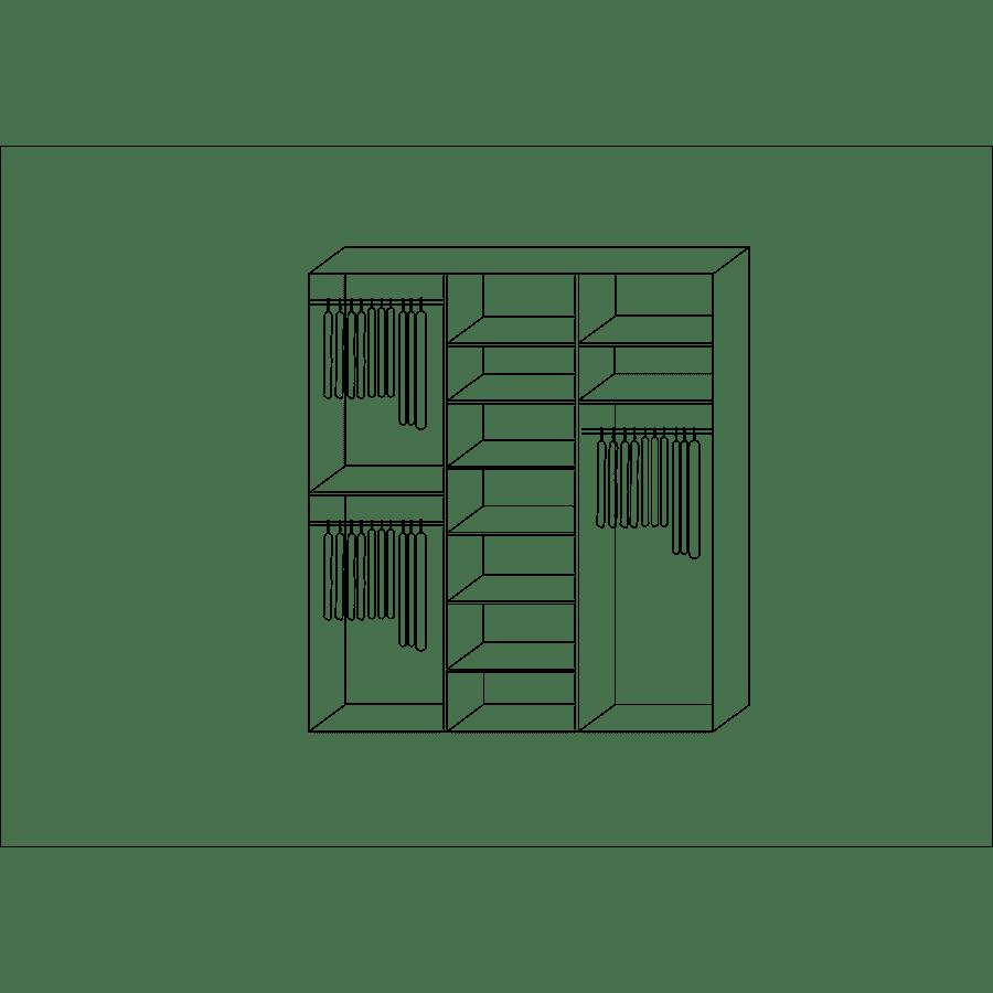 ארון +מראה פסי קישוט