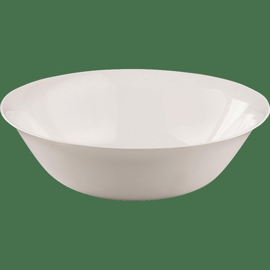 קערת סלט זכוכית לבנה