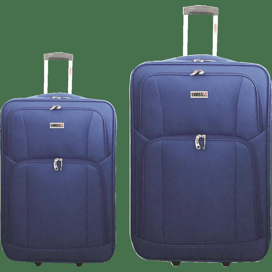 זוג מזוודות בד  כחול