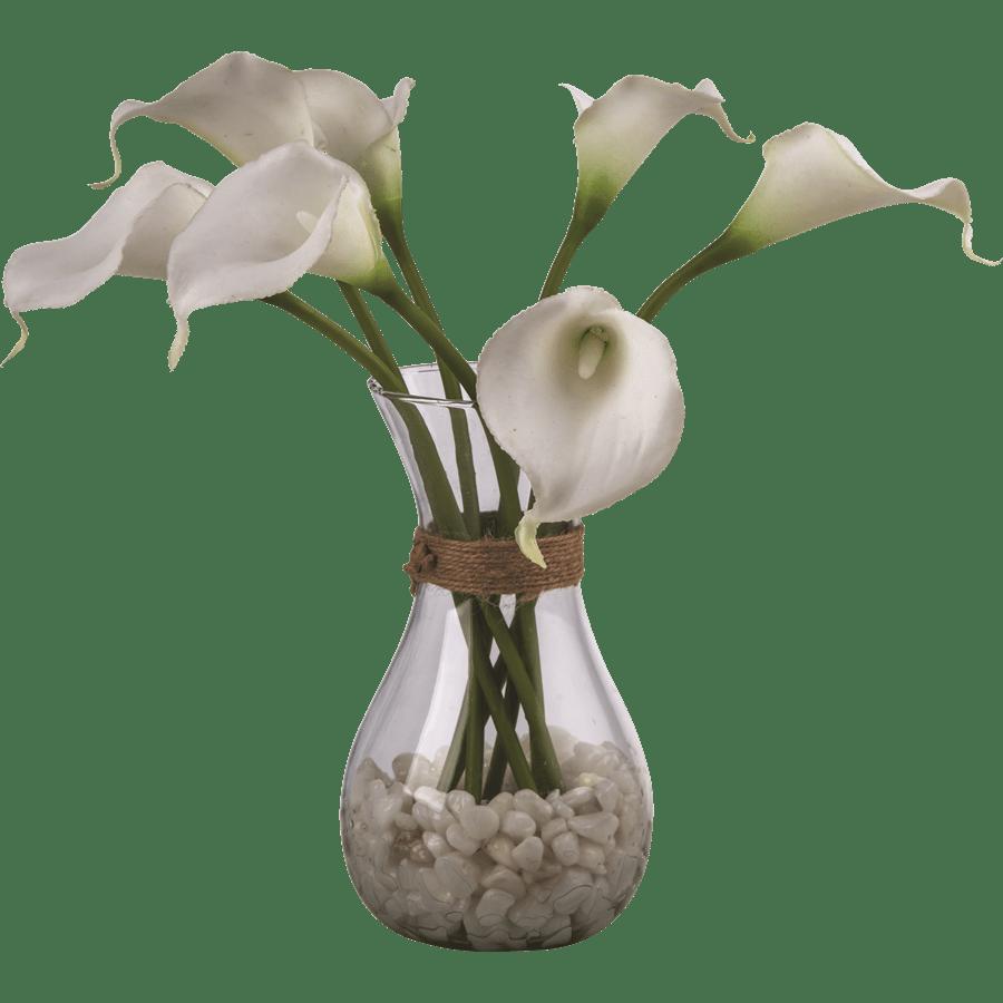 אגרטל זכוכית פרחי קאלה