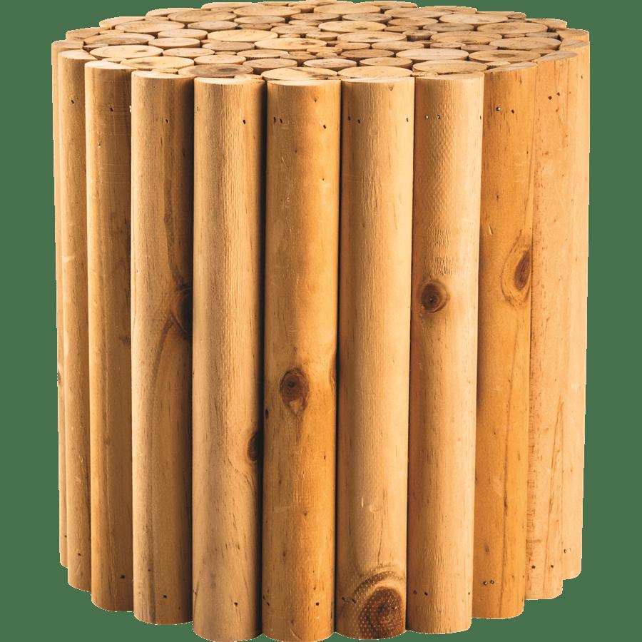 שולחן קפה עגול עץ טבעי