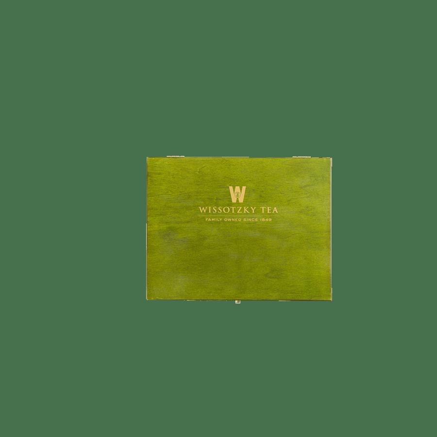 תיבת עץ ירוקה