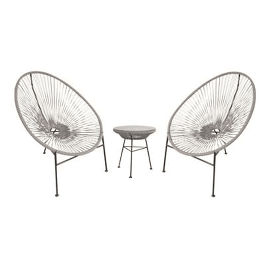 סט שני כסאות + שולחן