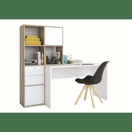 שולחן כתיבה+ספריה קרלו