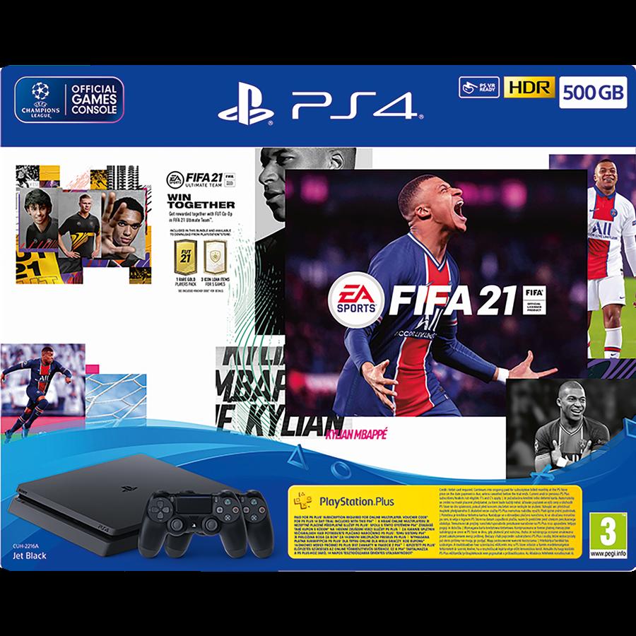 PS4 SLIM 500GB FIFA 21 2