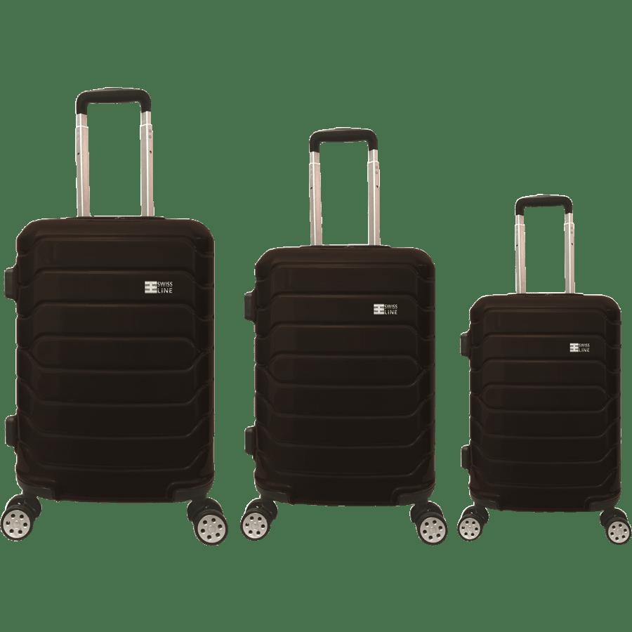 סט3 מזוודות PC שחור