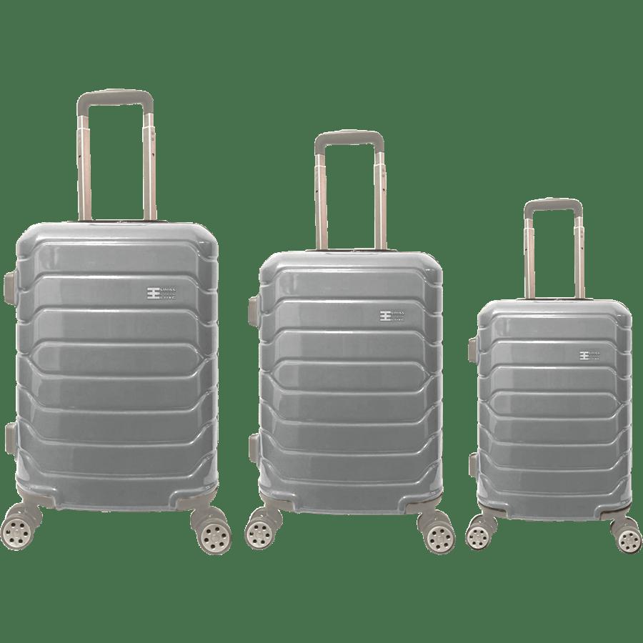 סט3 מזוודות PC כסף