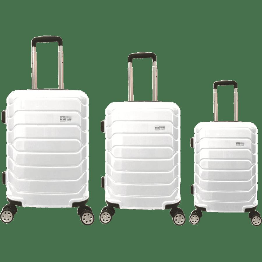 סט3 מזוודות PC לבן