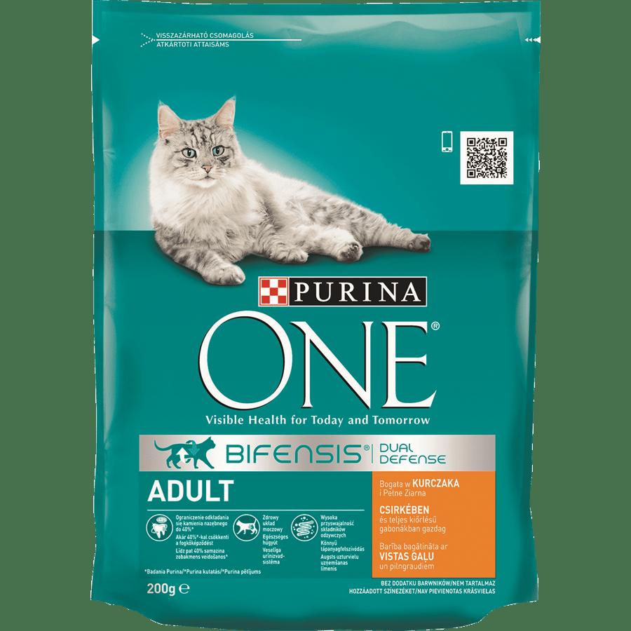ONE לחתול בוגר עוף ודגני