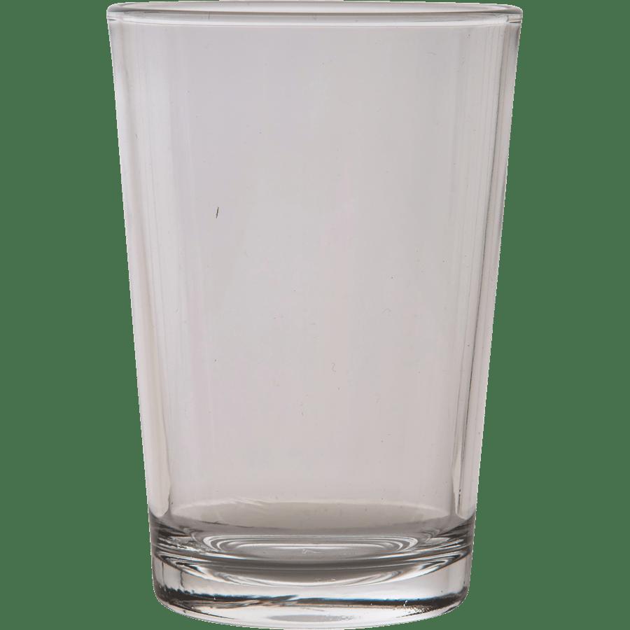 סט 12 כוסות זכוכית חלק
