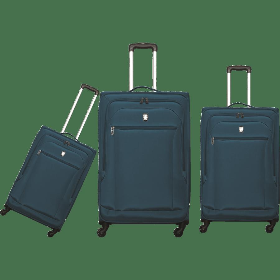 שלישיית מזוודות בד ירוק