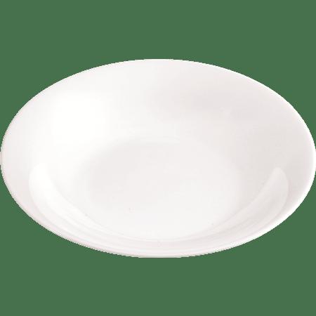 צלחת עגול מרק לבן מחוסם