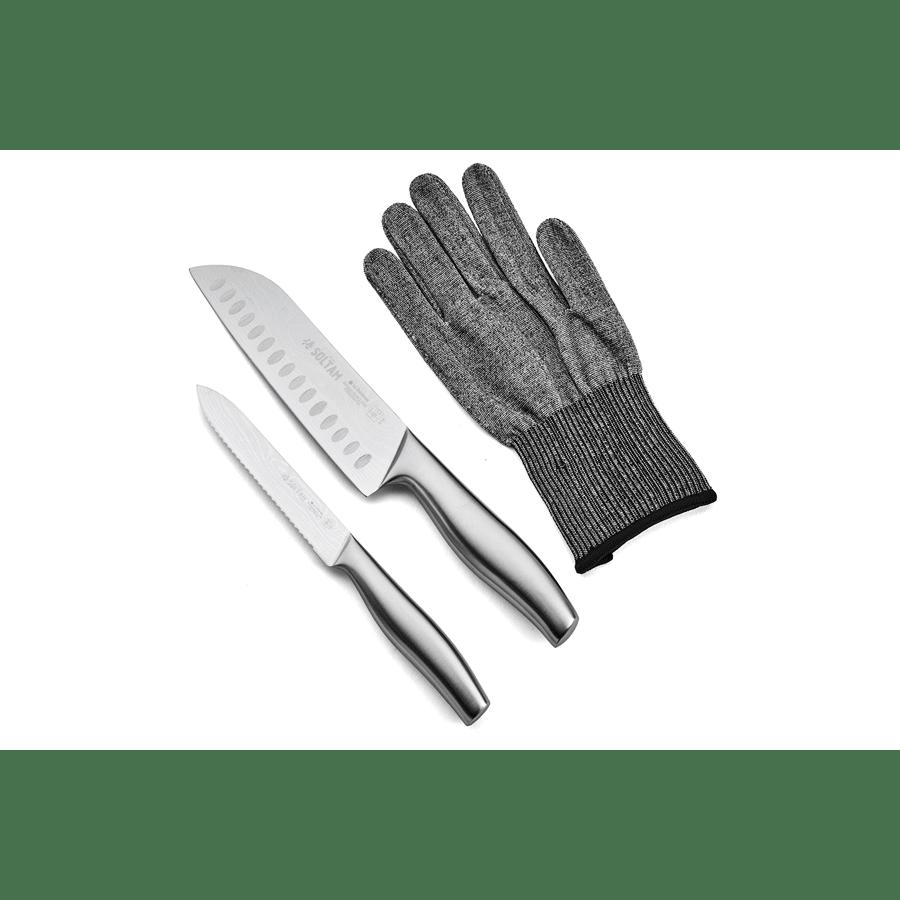 סט סכינים+כפפה