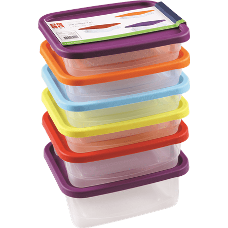 סט 6 קופסאות פלסטיק