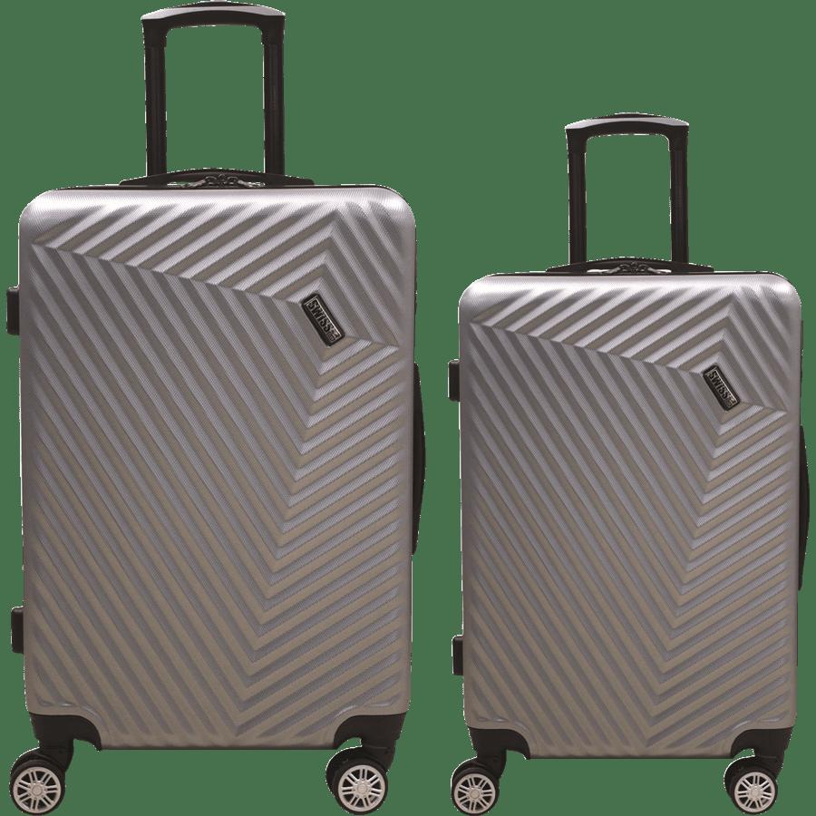 זוג מזוודות ABS כסף