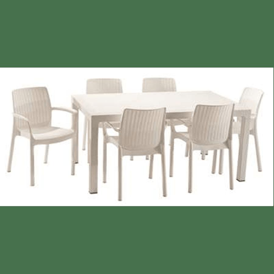 שולחן מלודי ראטן+6כסאות