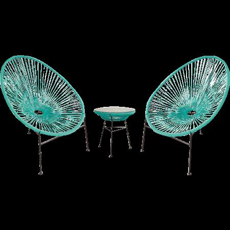 סט כסאות ושולחן חוטים