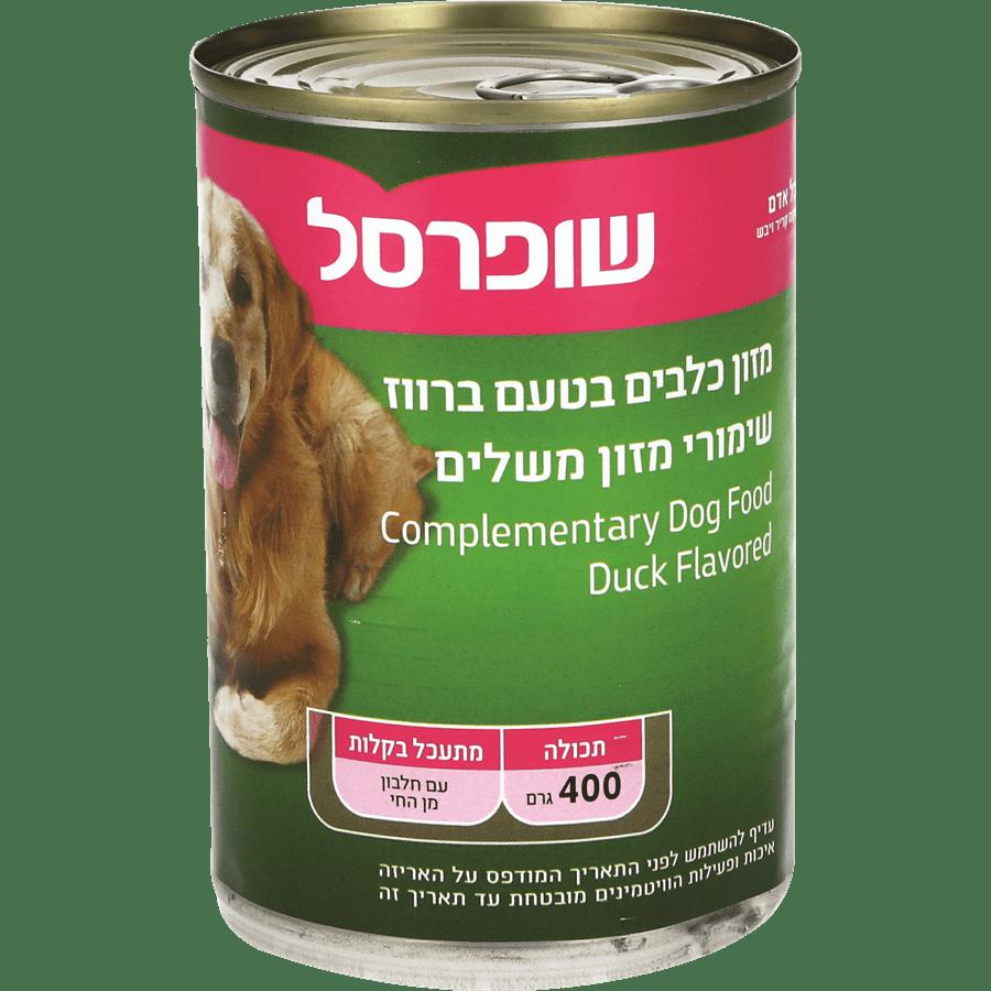 מזון לכלב בטעם ברווז