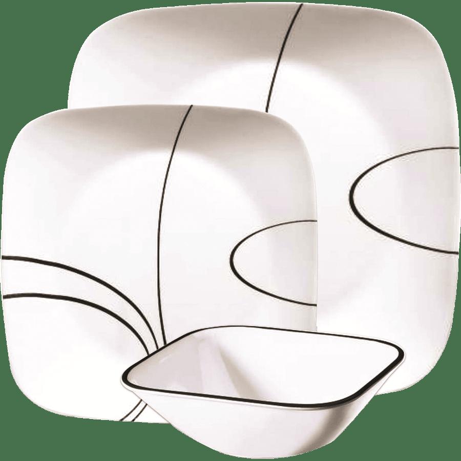 סט צלחות simple lines