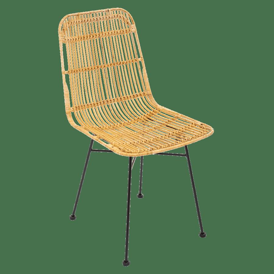 סט 4 כסאות קש