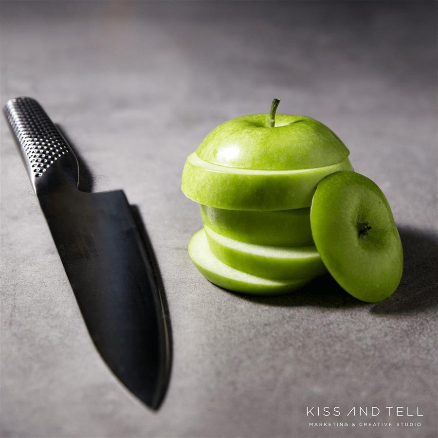 סכין שף חריצים