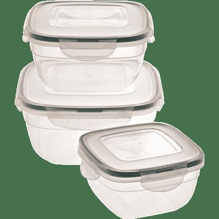 סט 3 קופסאות פלסטיק